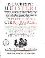 Institutiones Chirurgicae: Volume 1