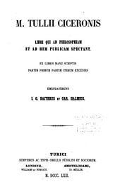 Opera quae supersunt omnia ex recensione Io. Casp. Orellii: Philosophica