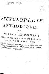 Encyclopédie méthodique: Finances ...