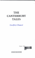 The Canterbury Tales  Geoffrey Chaucer PDF