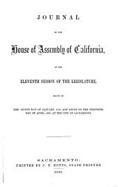 Journal of the House of Assembly of California, at the ... Session of the Legislature