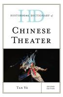 Historical Dictionary of Chinese Theater PDF