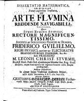 Diss. math. skiagraphian futuri cuiusdam tractatus de arte flumina reddendi navigabilia continens
