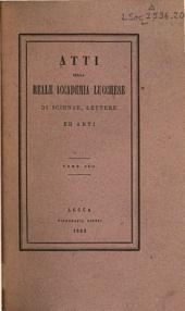 Atti dell'Accademia lucchese di scienze, lettere ed arti: Volume 22