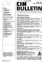 The Canadian Mining and Metallurgical Bulletin PDF