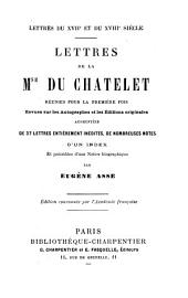 Lettres, réunies par E. Asse. (Lettres du xviie et du xviiie siècle).