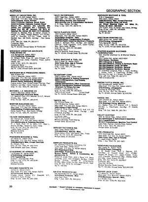 Michigan Manufacturers Directory