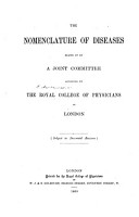 The Nomenclature of Diseases  Drawn Up by a Joint Committee Appointed by the Royal College of Physicians  Etc PDF