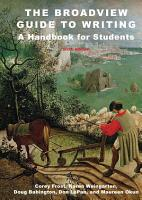 The Broadview Guide to Writing  A Handbook for Students   Sixth Edition PDF