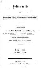 Zeitschrift der Deutschen Morgenl  ndischen Gesellschaft PDF
