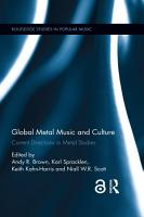 Global Metal Music and Culture PDF