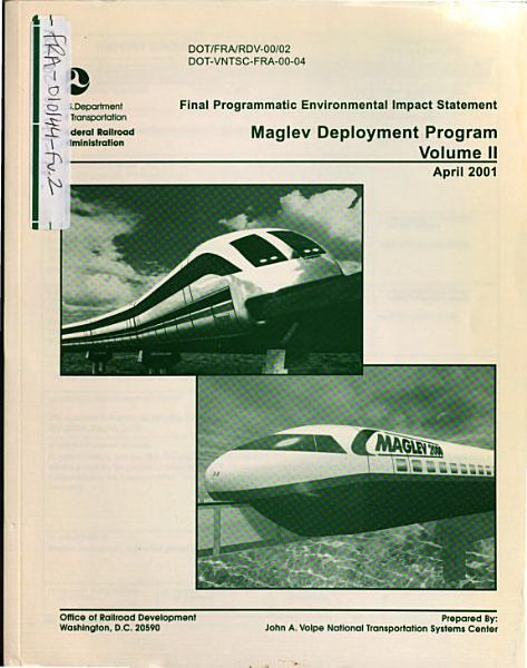 Maglev Deployment Program Programmatic Eis