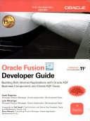 Oracle Fusion Developer Guide: Building Rich Internet Applications With Oracle Adf Business Components & Adf Faces