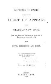Reports of Cases Decided in the Court of Appeals of the State of New York: Volume 133