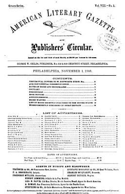 American Literary Gazette and Publishers  Circular