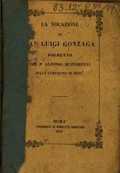 La vocazione di San Luigi Gonzaga: poemetto eú ottava rima
