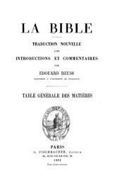 La Bible: traduction nouvelle avec introductions et commentaires, Partie2
