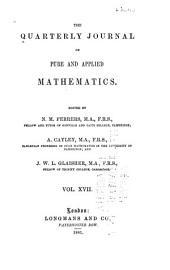 The Quarterly Journal of Pure and Applied Mathematics: Volume 17