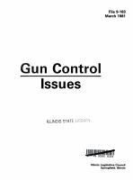 Gun Control Issues PDF