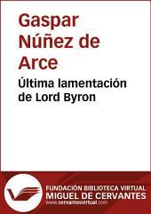Última lamentación de Lord Byron