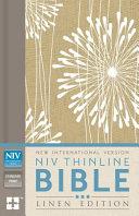 NIV Thinline Bible, Linen Edition