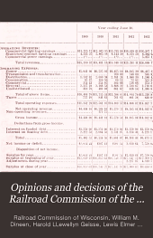 Opinions and Decisions of the Railroad Commission of the State of Wisconsin: Volume 14