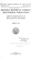 Monthly Record of Current Educational Publications PDF