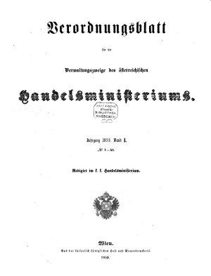Verordnungsblatt f  r die Verwaltungszweige des   sterreichischen Handelsministeriums PDF