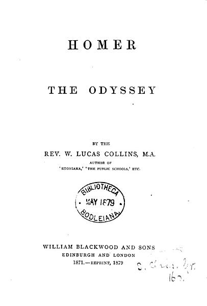 Download Homer  The Odyssey  a summary   Repr Book