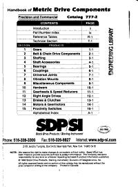 Handbook of Metric Drive Components