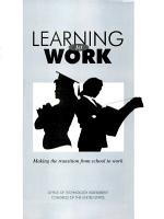 Learning to Work PDF