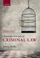 Ashworth S Principles Of Criminal Law Book PDF