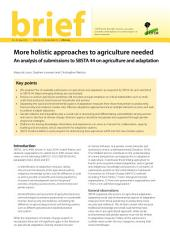 More holistic approaches to agriculture needed: An analysis of party submissions to SBSTA 44 on adaptation and agriculture