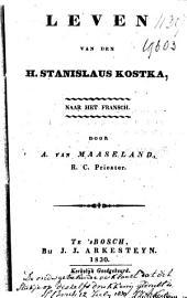 Leven van den H. Stanislaus Kostka