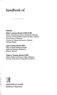 Handbook of Clinical Drug Data PDF