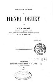 Biographie politique de Henri Druey