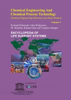 Chemical Engineering and Chemical Process Technology   Volume V PDF