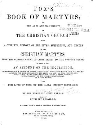 Fox s Book of Martyrs PDF