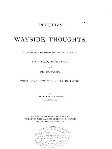 Poetry   Wayside Thoughts PDF