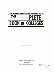 The Complete Book Of Colleges Book PDF