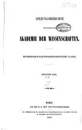 Sitzungsberichte der Kaiserlichen Akademie der Wissenschaften. Mathematisch-Naturwissenschaftliche Classe: Band 12,Teil 2