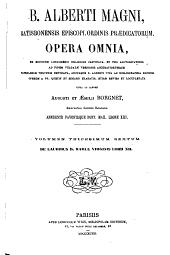 B. Alberti Magni Opera omnia: Volume 36