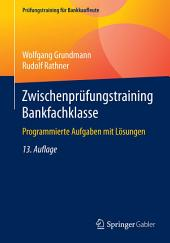 Zwischenprüfungstraining Bankfachklasse: Programmierte Aufgaben mit Lösungen, Ausgabe 13