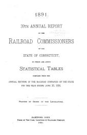 Annual Report of the Railroad Commissioners of the State of Connecticut, for: Volume 39