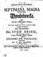Dissertatio historica de septimana magna svethice Dymbelwecka  etc  Praes  S  Bring PDF