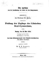 Die mythen von der herabholung des feuers bei den Indogermanen