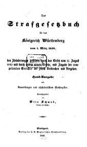 Das Strafgesetzbuch für das Königreich Württemberg: Vom 1. März 1839