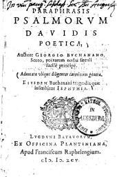 Paraphrasis psalmorum Davidis poetica0