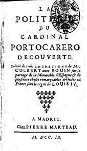 La politique du cardinal Portocarero découverte