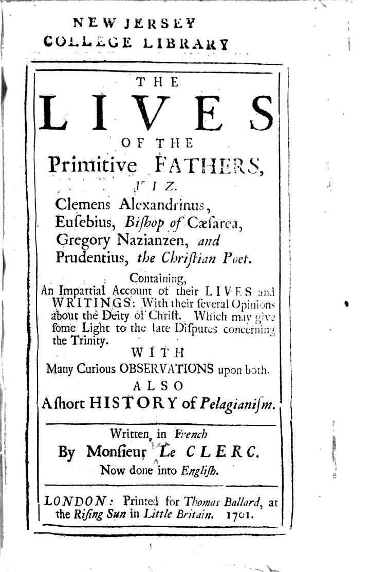 The Lives of the Primitive Fathers